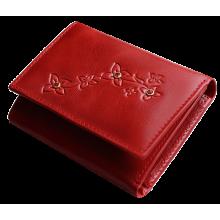 Портмоне женское кожаное Джари-2 красное Мэри Kniksen