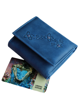 Портмоне женское для денег и карточек синие Джари-2 Мэри Kniksen