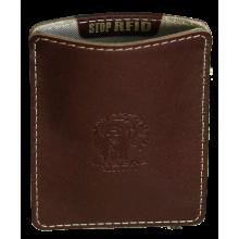 Картхолдер для пластиковых карт из кожи ФПК-2-S коричневый Apache с защитой RFID