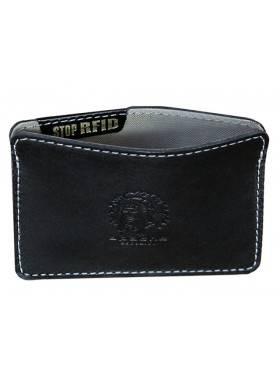 Картхолдер кожаный ФПК-3-S черный Apache RFID