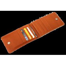 Кредитница мужская из натуральной кожи ФСК-2-S рыжий Apache с защитой RFID