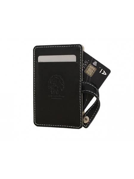 Футляр для кредиток мужской ФСК-S черный Apache RFID