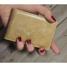 Визитница кредитница женская для пластиковых карт кожаная ВМ-9 Мэри бежевый Kniksen