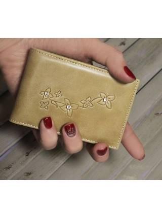 Футляр для кредитных карт кожа ВМ-9 Мэри бежевый Kniksen