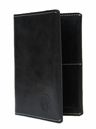Обложка для паспорта ОП-2-A дымчато-черная Apache