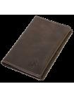 Обложка на паспорт натуральная кожа ОП-2-A дымчато-коричневая Apache