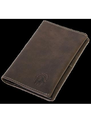 Обложка для паспорта ОП-2-A  дымчато-коричневая Apache