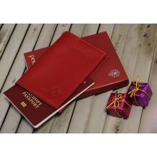 Обложка для паспорта С-ОП-1 люкс красный Флауэрс