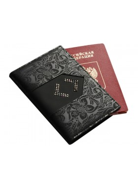Обложка на паспорт ОП-16 Lancetta Black Kniksen