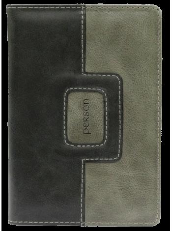 Обложка для паспорта ОП-16-П перфекто серый Person