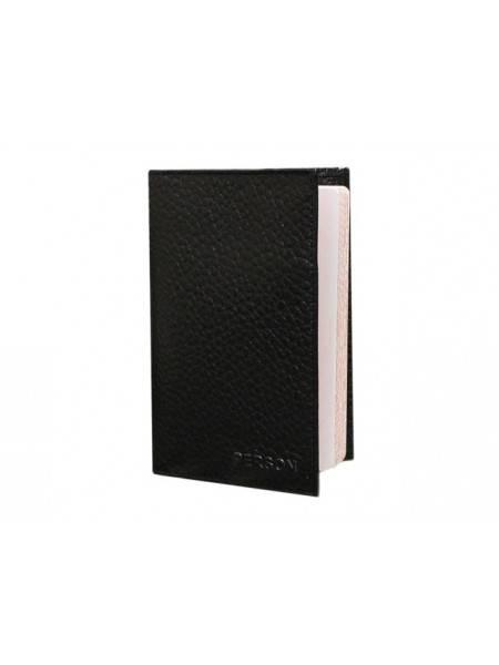 Обложка для паспорта ОП-5-PS черная Person RFID