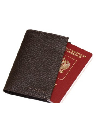 Обложка для паспорта ОП-5-PS коричневая Person RFID