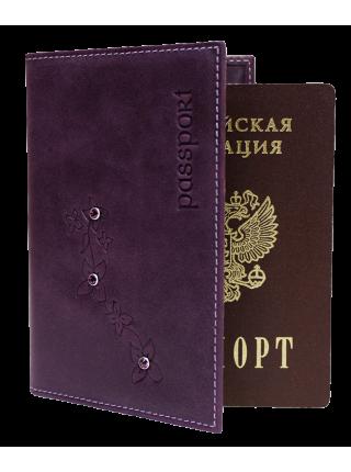 Обложка для паспорта ОПВ- Мэри друид фиолетовый Kniksen