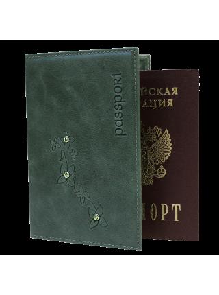 Обложка для паспорта ОПВ- Мэри друид зеленый Kniksen