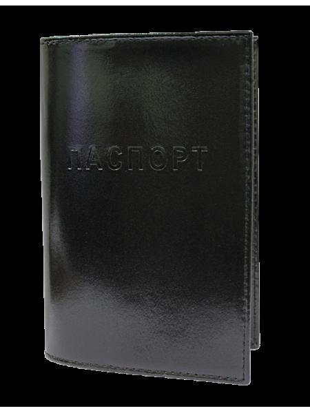 Обложка для паспорта СТ-ПО-1 В шик цвет черный Старк