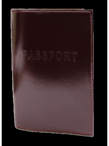 Обложка для паспорта СТ-ПО-2 В бургундия Старк