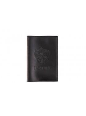 Обложка для паспорта из кожи  ОП-Л  Person черная