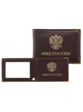 Обложка для удостоверения с прозрачным окном МВД бордо Person
