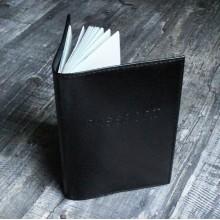 Обложка для паспорта из кожи СТ-ПО-2В Stark черная