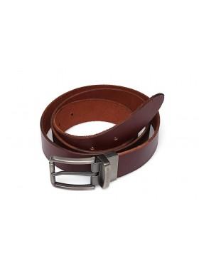 Ремень кожаный натуральная кожа РЕМ-4-A Apache бордо