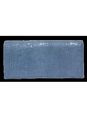 Синий клатч из натуральной кожи № 8 Person