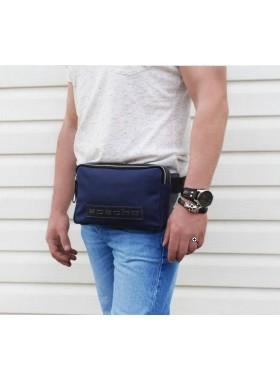 Большая поясная сумка СП-5215-А канвас синия Apache
