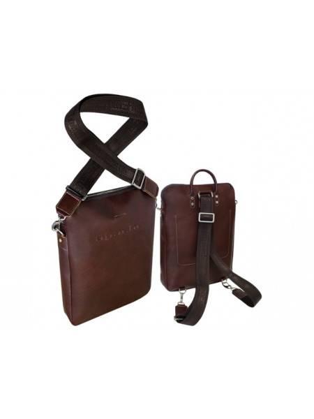 Рюкзак трансформер 9713 коричневый Apache RFID