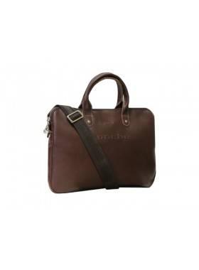 Мужская сумка через плечо из натуральной кожи 9313 коричневая Apache