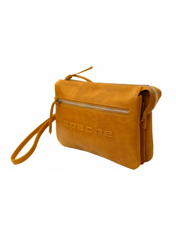 Клатч мужской из кожи табачно-желтый CM-8013-A Apache