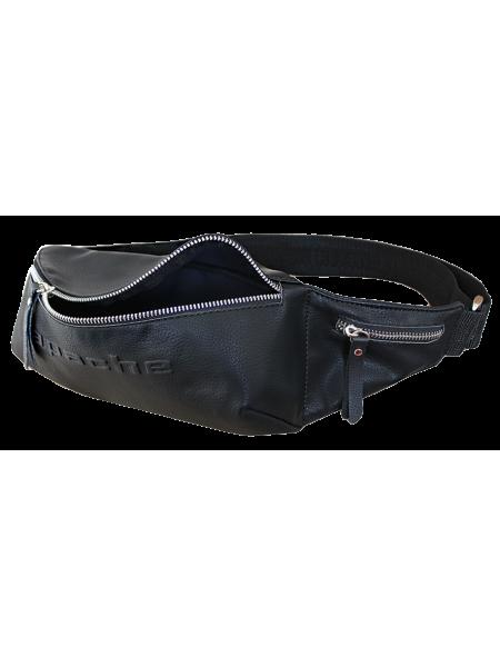 Черная поясная сумка СП-5014-А иск. кож. Apache