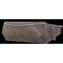 Сумка пояс мужская коричневая СП-5014-А иск. кожа Apache