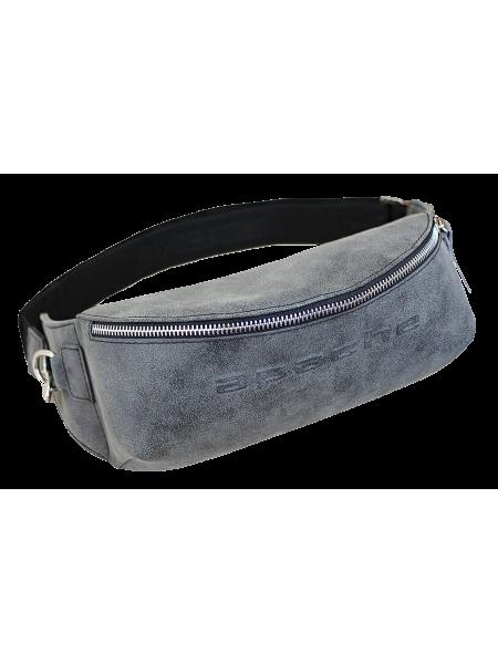 Мужская сумка поясная СП-5014-А серая иск. кож. Apache