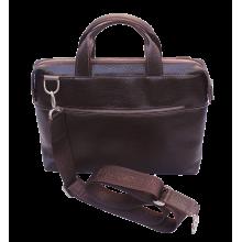 Сумка портфель кожаный деловой Джон беладонна коричневый Person
