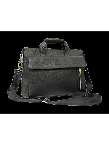 Сумка портфель кожаная деловая СД-133/5 беладонна черная Person