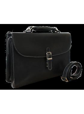 Портфель деловой ПД-9413-А дымчато - черный Apache