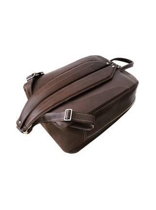 Рюкзак мужской из натуральной кожи P-9113-A дымчато-коричневый Apache RFID