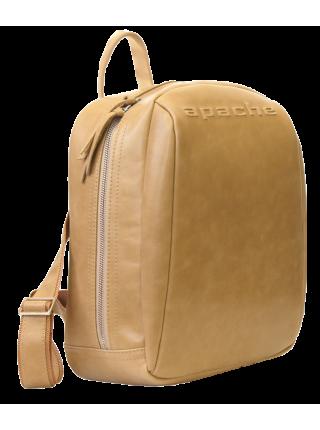 Кожаный мужской рюкзак друид бежевый P-9013-A Apache