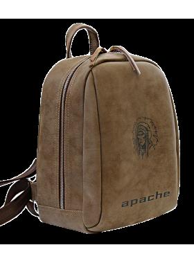 Модный рюкзак P-9014-A  искусственная кожа коричневый Apache