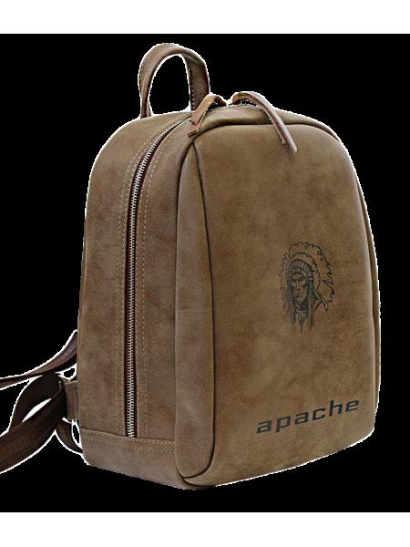 Городской модный рюкзак P-9014-A  искусственная кожа коричневый Apache