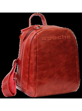 Кожаный городской рюкзак P-9013-A пулл-ап красный Apache