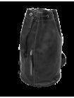 Сумка мешок кожаная C-9213-A дымчато-черный Apache