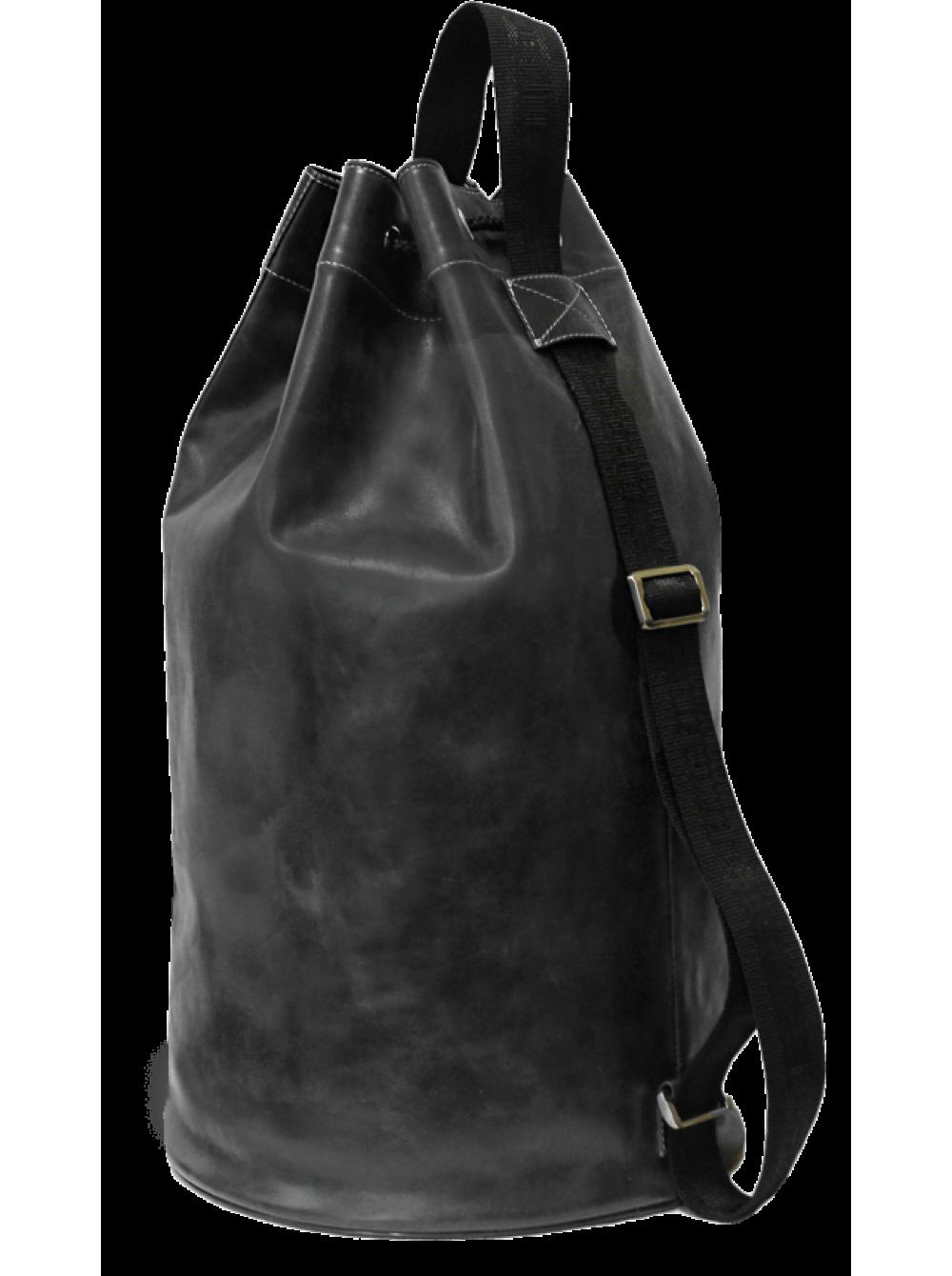 78093e323897 Сумка мешок кожаная C-9213-A дымчато-черного цвета Apache, купить в ...