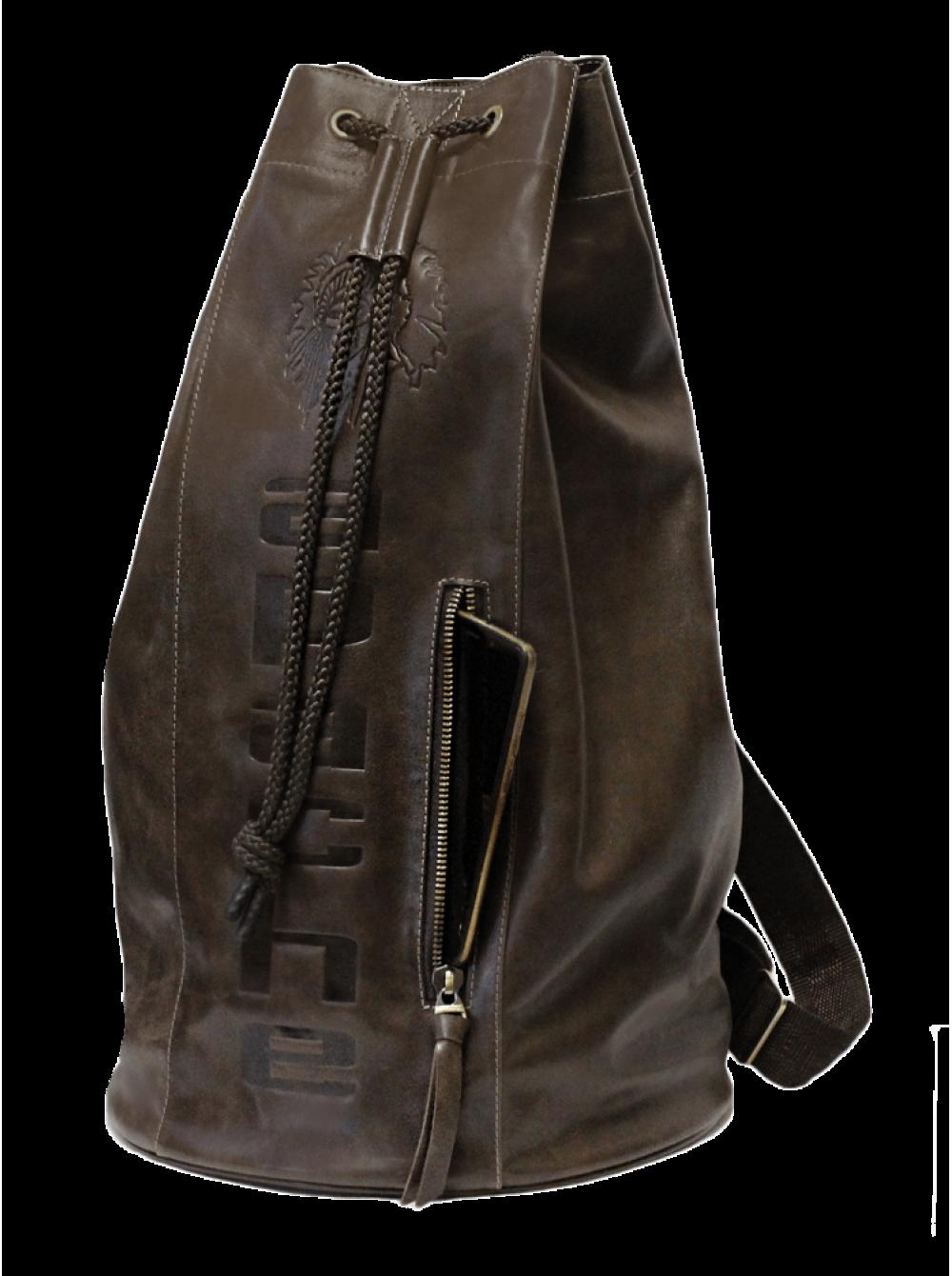 60119ba66111 Сумка мешок из натуральной кожи C-9213-A дымчато-коричневый Apache ...