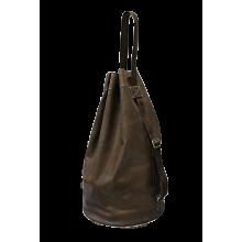 Сумка мешок из натуральной кожи C-9213-A дымчато-коричневый Apache