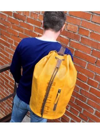 Рюкзак туристический Сумка - мешок C-9213-A табачно-желтый Apache