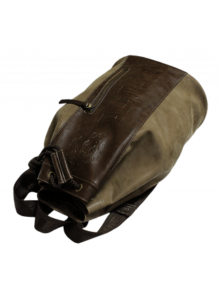 Сумка мешок-рюкзак коричневая из искусственной кожи Apache