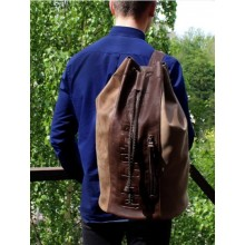 Сумка рюкзак мужская С-9214-А Apache коричневая