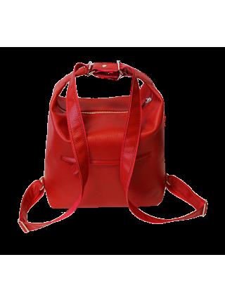 Женская сумка рюкзак трансформер Лада красная Kniksen