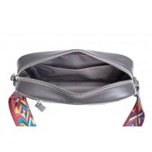 Женская сумка кросс боди натуральная кожа Libellula серый Person