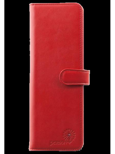Визитница для пластиковых карт женская С-ВМ-6 люкс красный Флауэрс